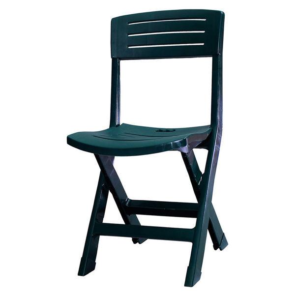 Снимка на Стол пластмасов сгъваем ONORE зелен