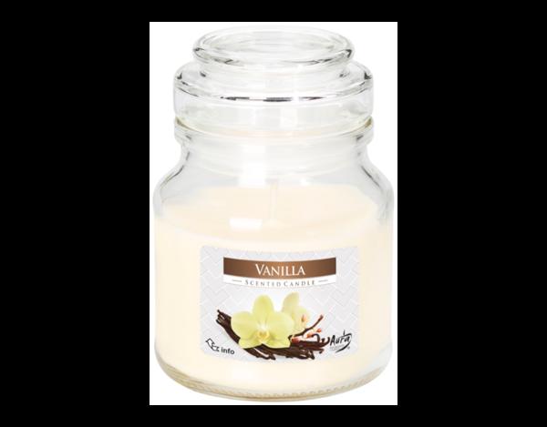 Снимка на Свещ ароматизирана с капак ванилия ф 7х9.9 см SND71-67