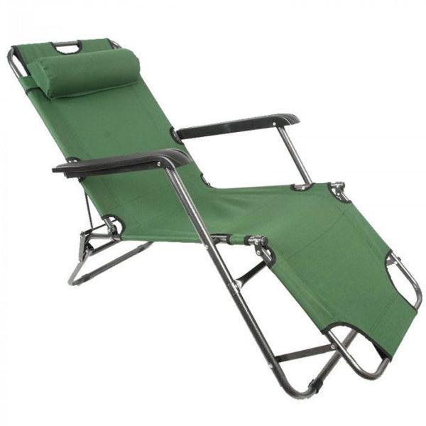Снимка на Стол плажен 153х60х79см. TLH-3068 - зелен