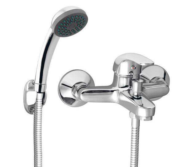 Снимка на BVA11 Смесител стенен за вана душ с аксесоари Vasto
