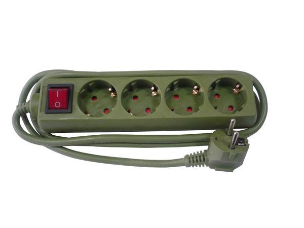 Снимка на Разклонител 104 ВК /1.5м.+ключ/3G 1.5 зелен