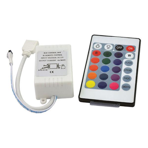 Снимка на Контролер IR за RGB LED осветление - 24 бутона