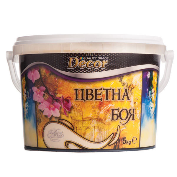 Снимка на Латекс дишаща интериорна боя цветна Decor ванилия - 5 кг.