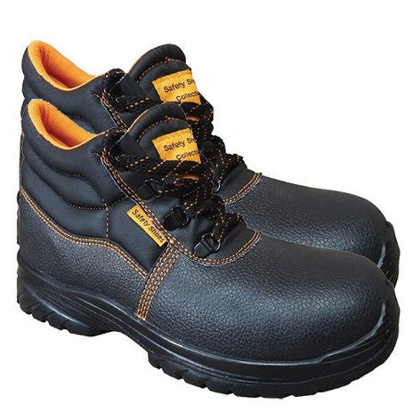 Снимка на Обувки работни боти телешка кожа с метално бомбе 3180 S1 - №41