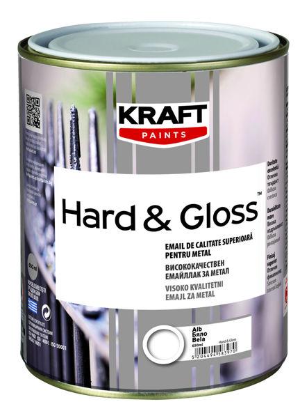 Снимка на Емайллак за дърво и метал Hard&Gloss черен  0.65мл