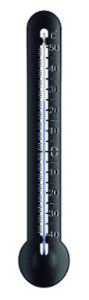 Снимка на Термометър външен PVC черен 285х52