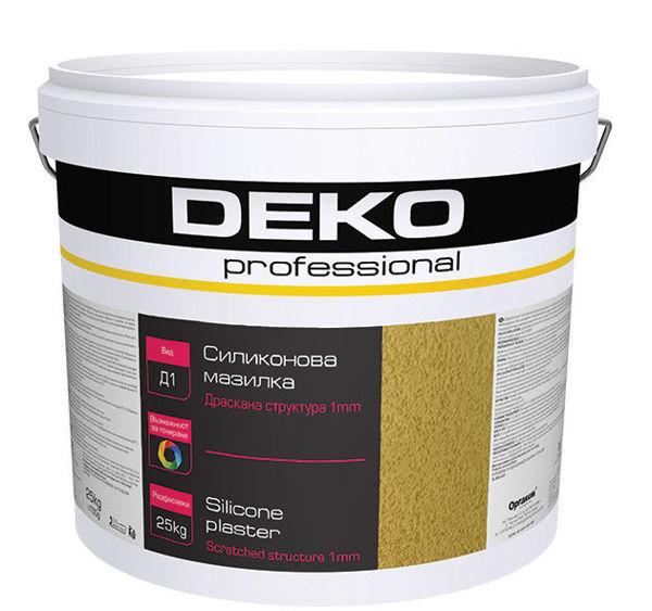 Снимка на Мазилка силиконова драскана Deko Professional D1 - 25 кг
