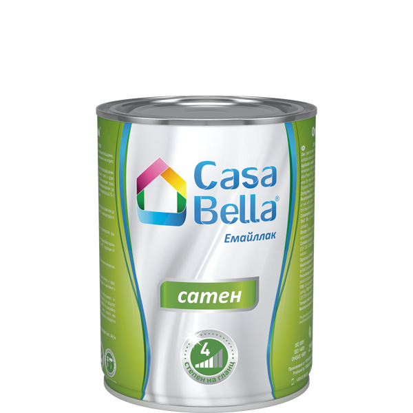 Снимка на Боя алкидна Casa Bella сатен Млечно какаова 650 мл.