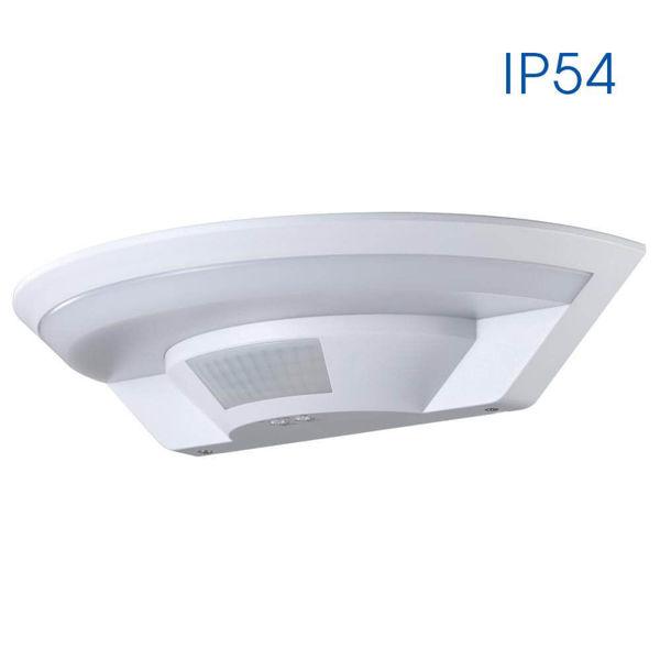 Снимка на Аплик LUNAR LED 10W SR12 IP54 - бял със сензор за движение