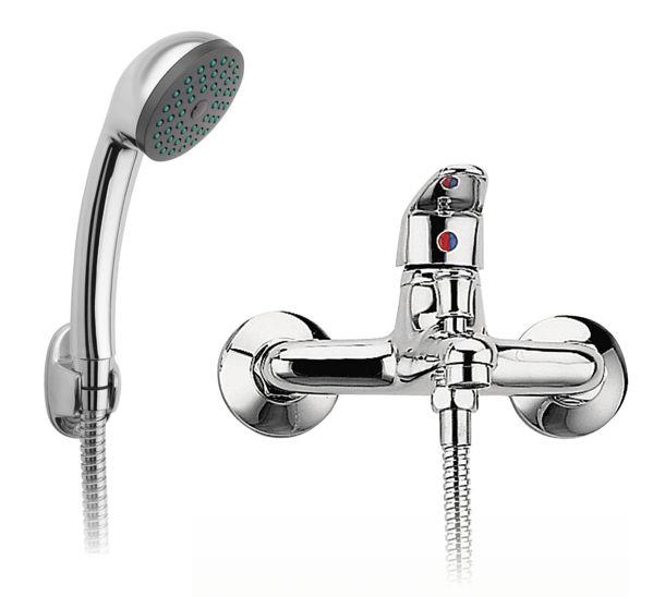 Снимка на  Смесител  стенен за вана/душ с аксесоари SMILE BSM11