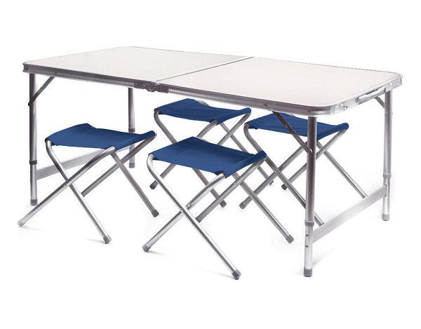 Снимка на Сгъваема маса 120х60cm с 4 стола