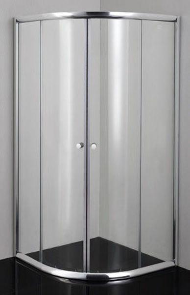 Снимка на Душ кабина РТ40С 90х90  овал 4мм прозрачно стъкло хром профил