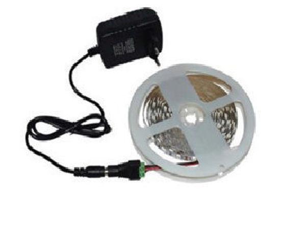 Снимка на Лента LED 4.8W 12V 6500K 5m IP65 к-т с адаптор