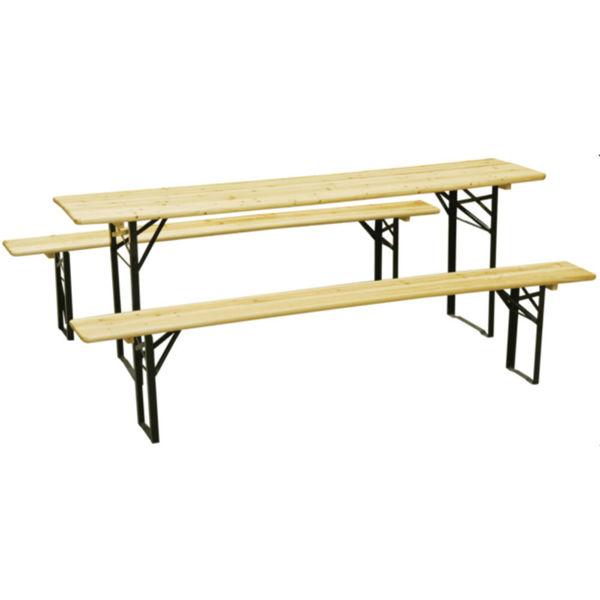 Снимка на Градинска маса с пейки 170х46х75cm