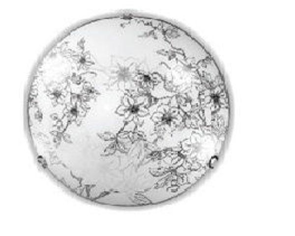 Снимка на Плафониера 91400 Flora Ø40cm 2xE27 бяло+черно