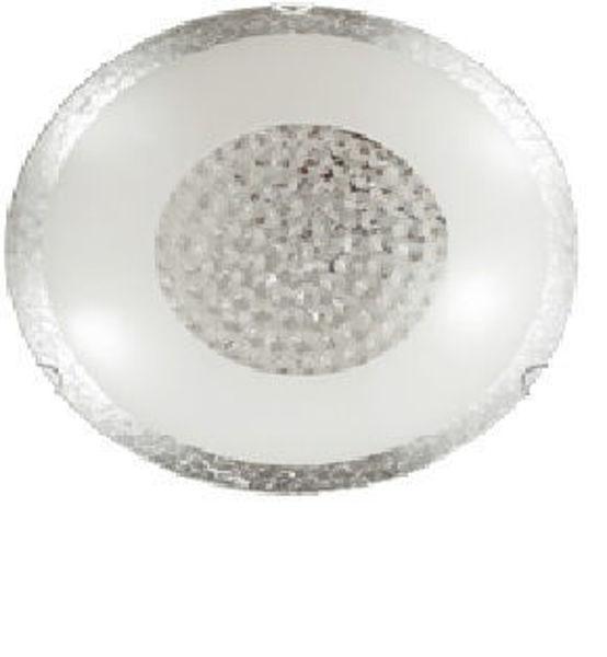 Снимка на Плафон Bless сребрист+ кристали, 1хЕ27, Ø250mm