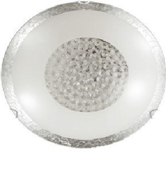 Снимка на Плафон Bless сребрист+ кристали, 1хЕ27, Ø300mm