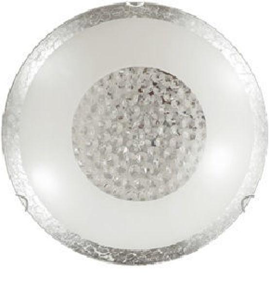 Снимка на Плафониера Bless сребрист+ кристали, 2хЕ27, Ø400mm