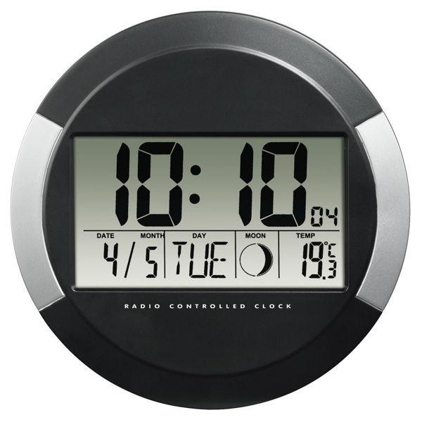 "Снимка на DCF радио часовник стенен ""PP-245"" - черен"