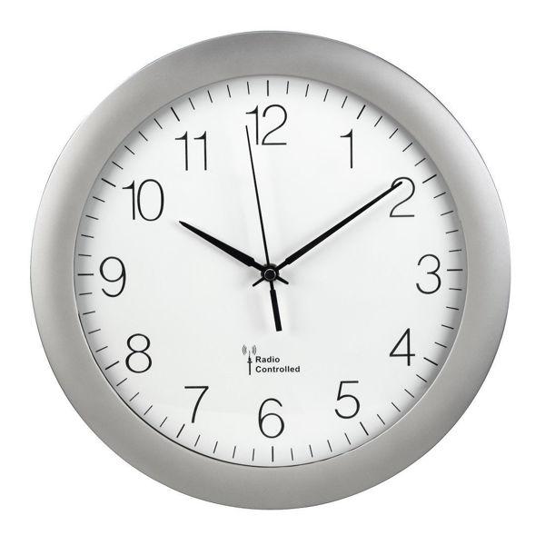 """Снимка на DCF радио часовник стенен """"PG-300"""" - сребърен"""