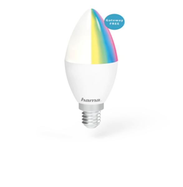 Снимка на Крушка HAMA димираща RGB WiFi-LED E14 4.5W
