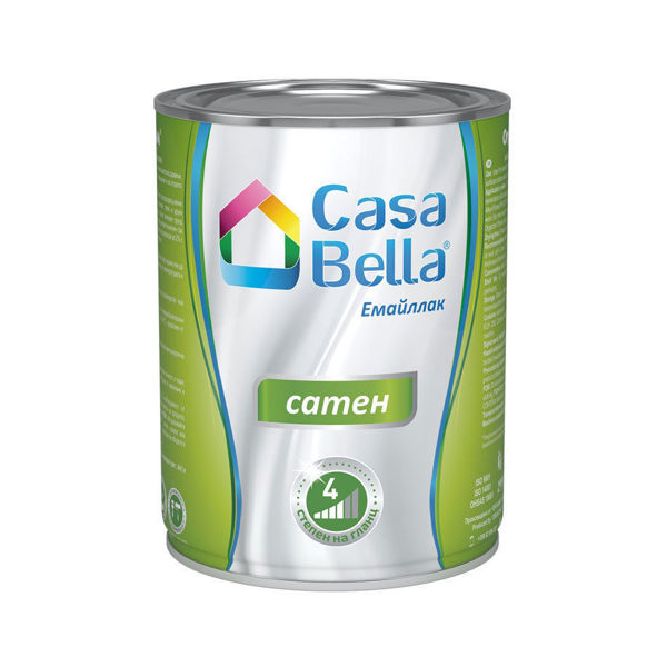 Снимка на Боя алкидна Casa Bella сатен млечно кафява 2.5 л.