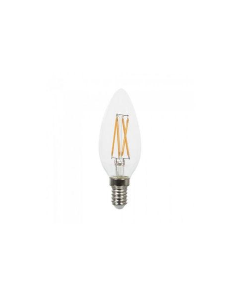 Снимка на Крушка 6W LEDISONE-2 CLEAR 2700К C35 E14 684Lm филамент