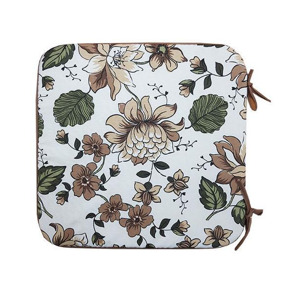 Снимка на Столовка тефлоново покритие 40х40 №4 кафяви цветя