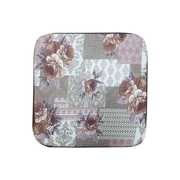 Снимка на Столовка микрофибър 40х40 №1 кафяво цвете