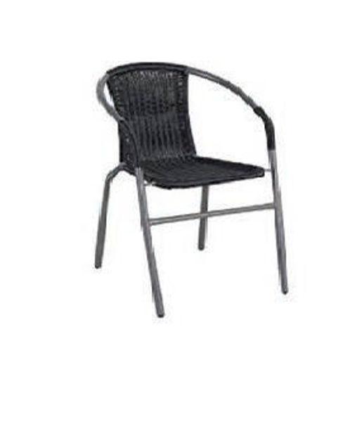 Снимка на Стол градински ратан 54х61х74см кафяв
